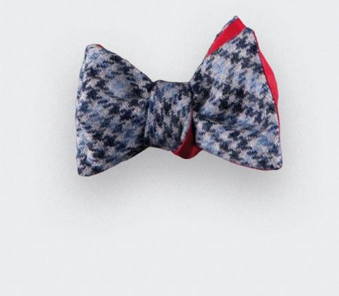 CINABRE Paris - Bow Tie - Loch Katrine Bleu - Made in France