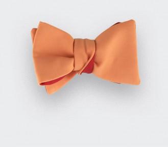 Noeud Papillon Corail Orange - Laine et soie - CINABRE Paris