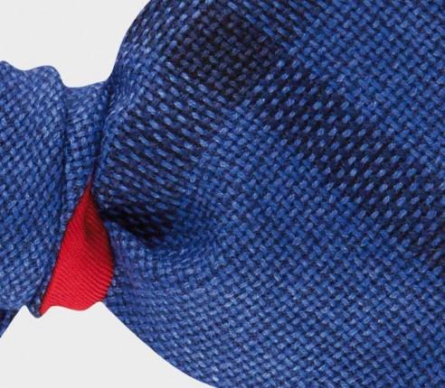 Noeud Papillon Spérone Bleu - laine et soie - Cinabre Paris