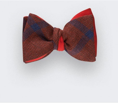 Sperone Red Bow Tie - wool and silk - Cinabre Paris
