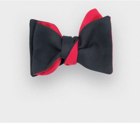 CINABRE Paris - Bow Tie - Twill Noir - Made in France