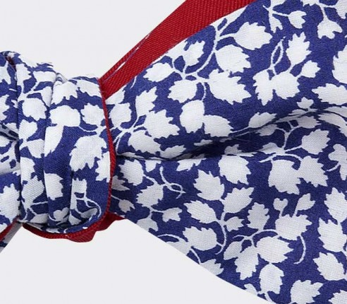 boys bow tie liberty blue white - cinabre paris - made in france