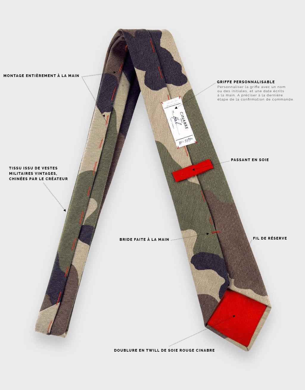 renommée mondiale magasin britannique outlet Cravate Opex Camo - Coton - Cinabre Paris
