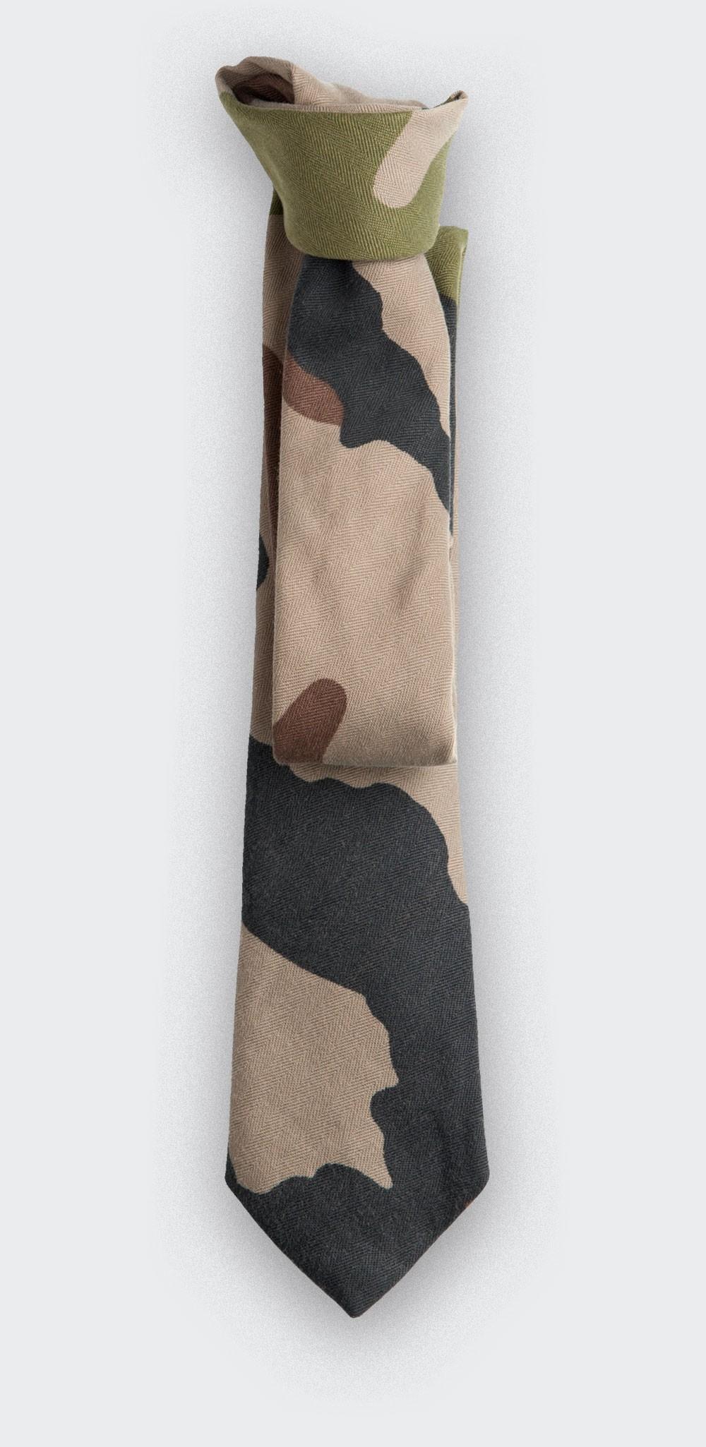 Tie Opex Camo - cotton - handmade in France by CINABRE Paris