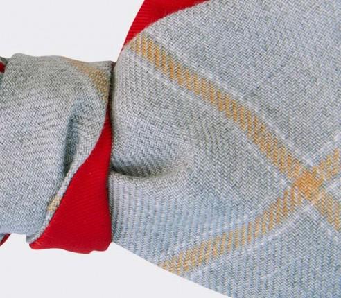 nœud papillon agay gris - lin - cinabre paris
