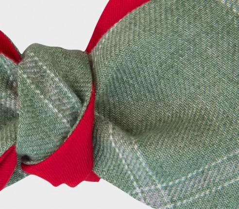 green agay bow tie - linen - cinabre paris