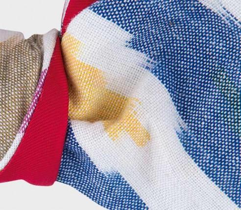 Noeud Papillon Ikat - CINABRE Paris - coton et soie