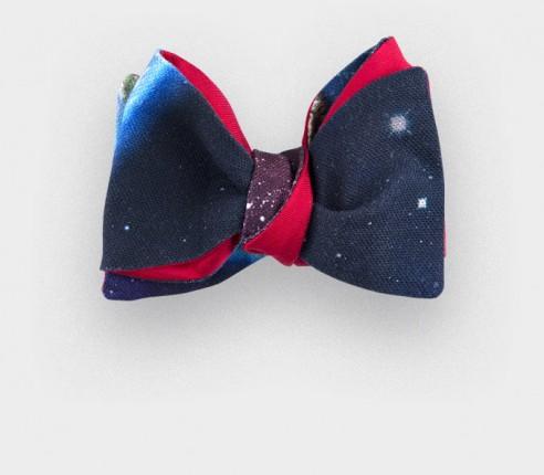 Noeud Papillon Constellation - Cinabre Paris - coton et soie