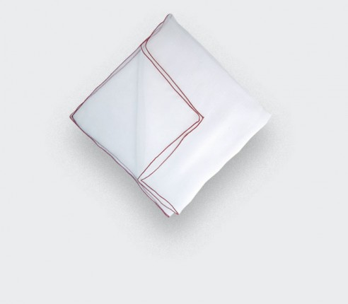 Pocket Square - White Silk Chiffon - CINABRE Paris