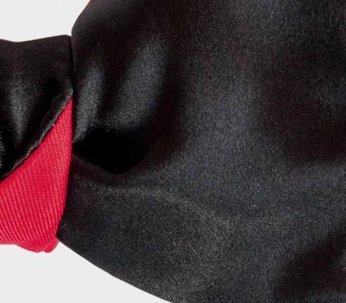 boys bow tie black silk - made in france - cinabre paris
