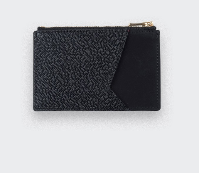 Black Card holder with black caviar leather - Cinabre Paris
