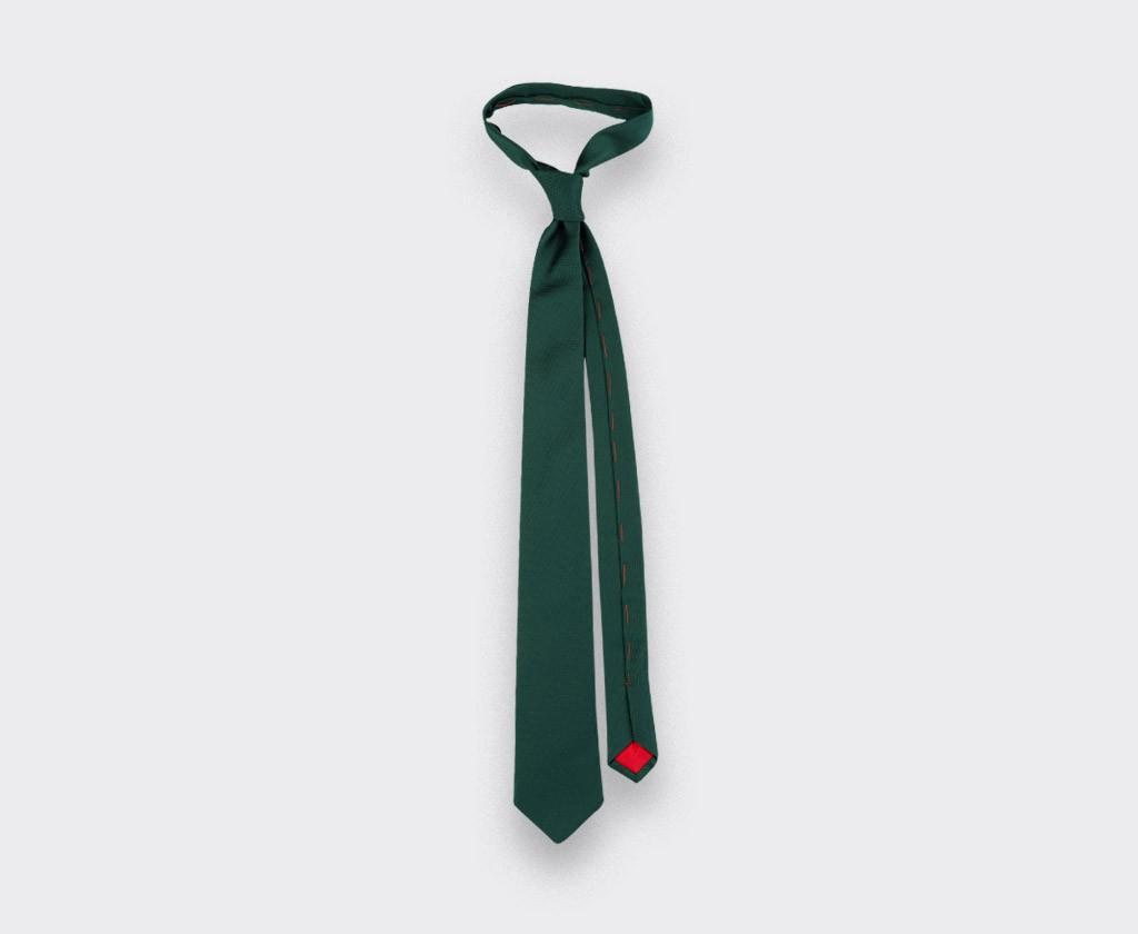 Green Lizard Tie - Silk - Cinabre Paris