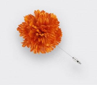Boutonnière pour costume - Soie Orange - Cinabre Paris