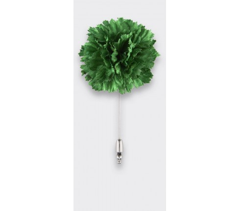 Flower Label Pin Green Silk -Cinabre Paris