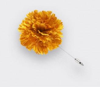 Flower Label Pin Gold Silk - Cinabre Paris