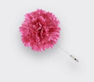 Boutonnière pour costume Soie Rose - Cinabre Paris