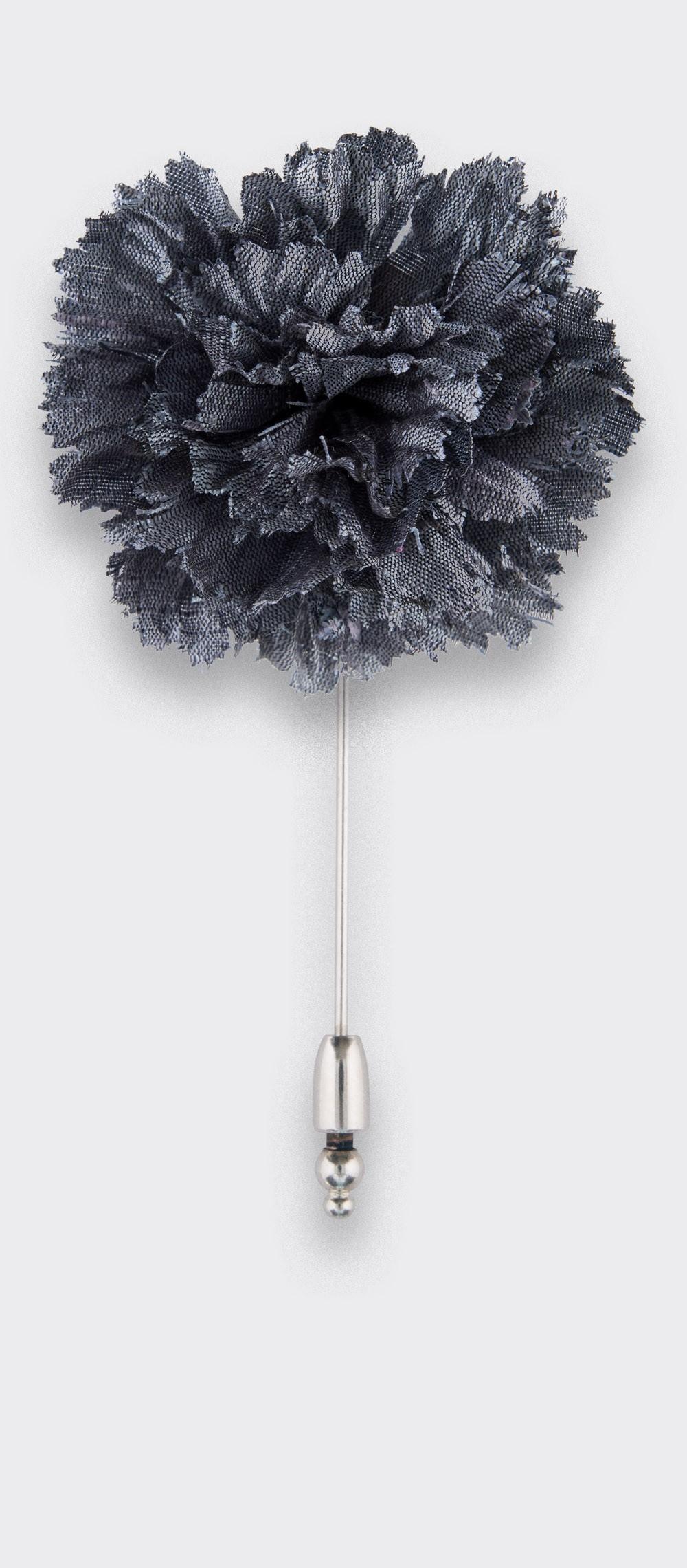 Boutonnière pour costume Soie Grise - Cinabre Paris