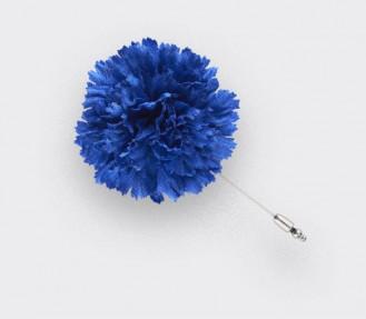 Boutonnière pour costume Soie Bleue - Cinabre Paris