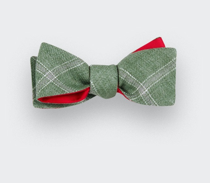 Green Agay Slim Bow Tie - Linen - Cinabre Paris