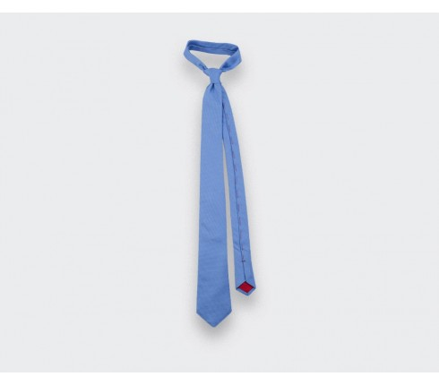 Blue Woven Silk Tie - Cinabre Paris