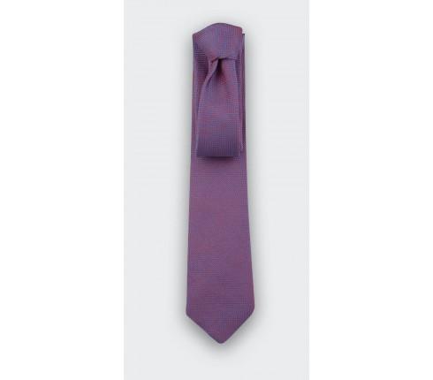Fuchsia Woven Silk Tie - Silk - Cinabre Paris