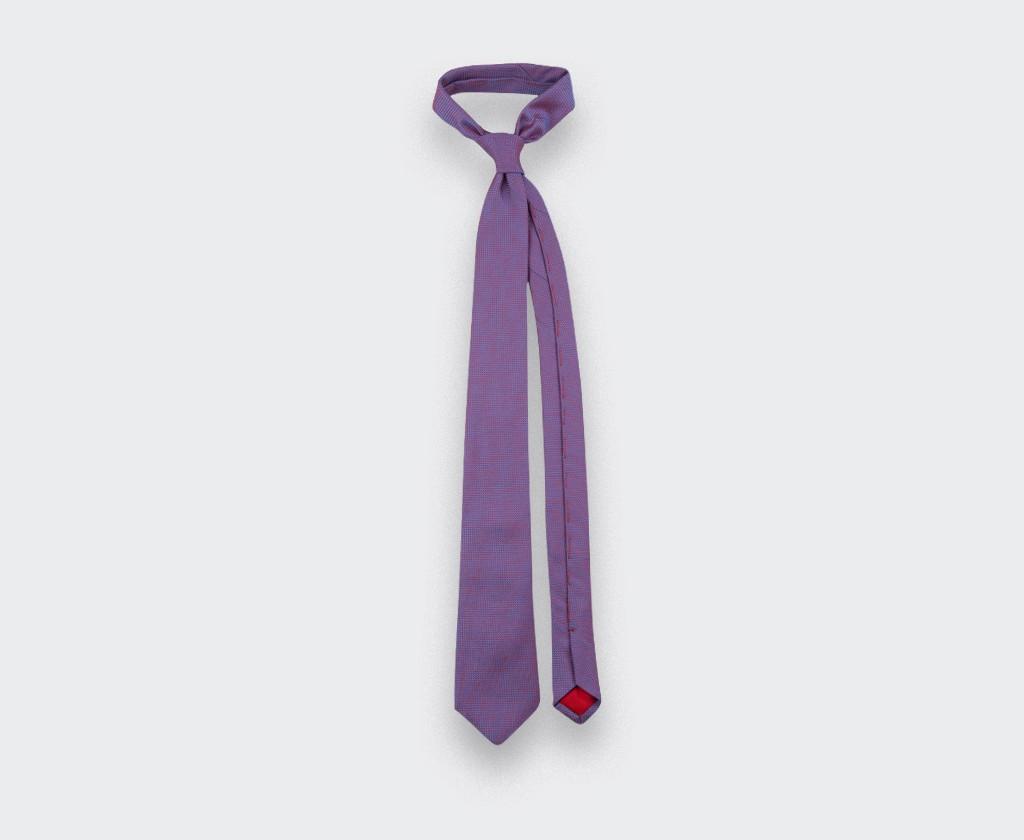 Cravate Soie tissée Fuchsia - Soie - Cinabre Paris