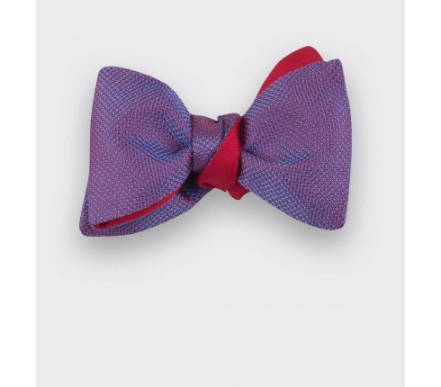 Fuchsia Woven Silk bow tie - handmade in France by CINABRE Paris