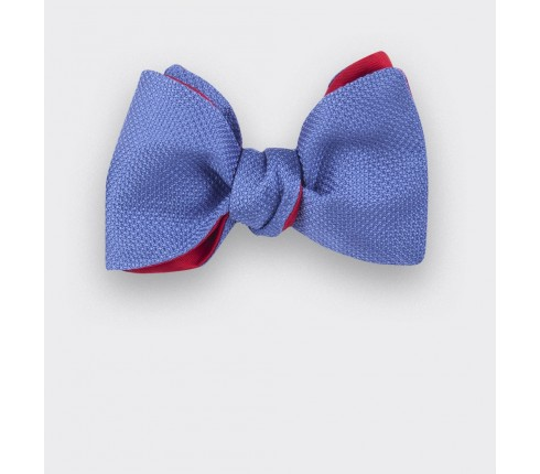 Blue denim Woven Silk bow tie - silk - CINABRE Paris