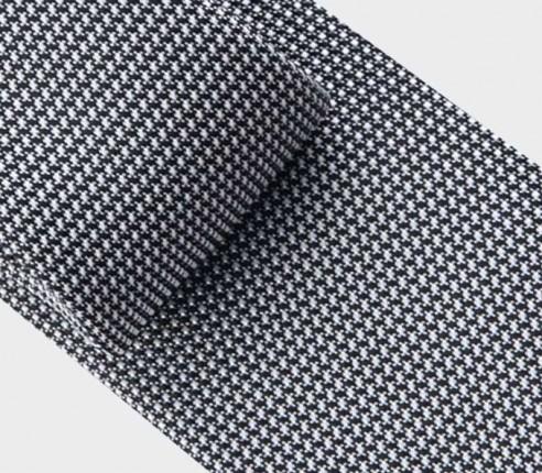 cravate soie tissée noire et blanche - soie - cinabre paris