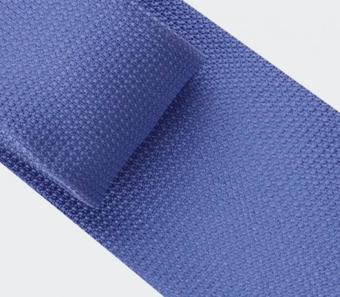 blue denim woven silk tie - silk - cinabre Paris