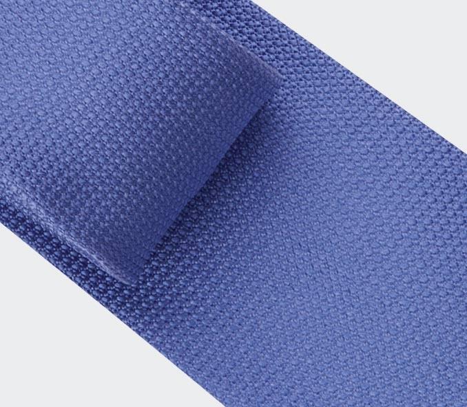 blue denim woven silk tie - silk - cinabre Paris