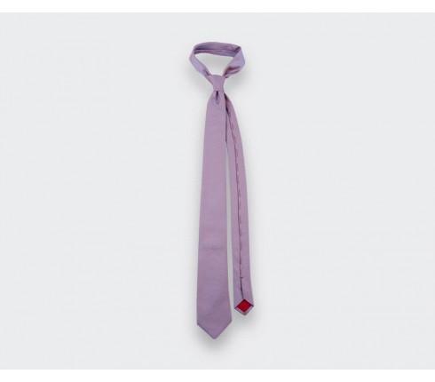 coral woven silk tie - silk - cinabre Paris