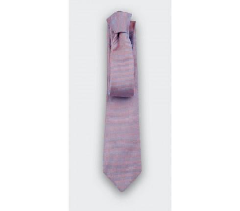 cravate soie tissée corail - soie - cinabre paris