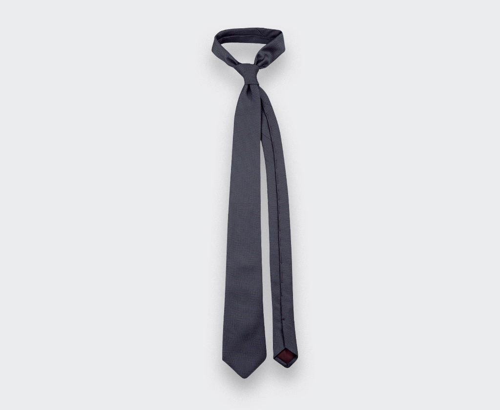 cravate soie tissée grise - soie - cinabre paris