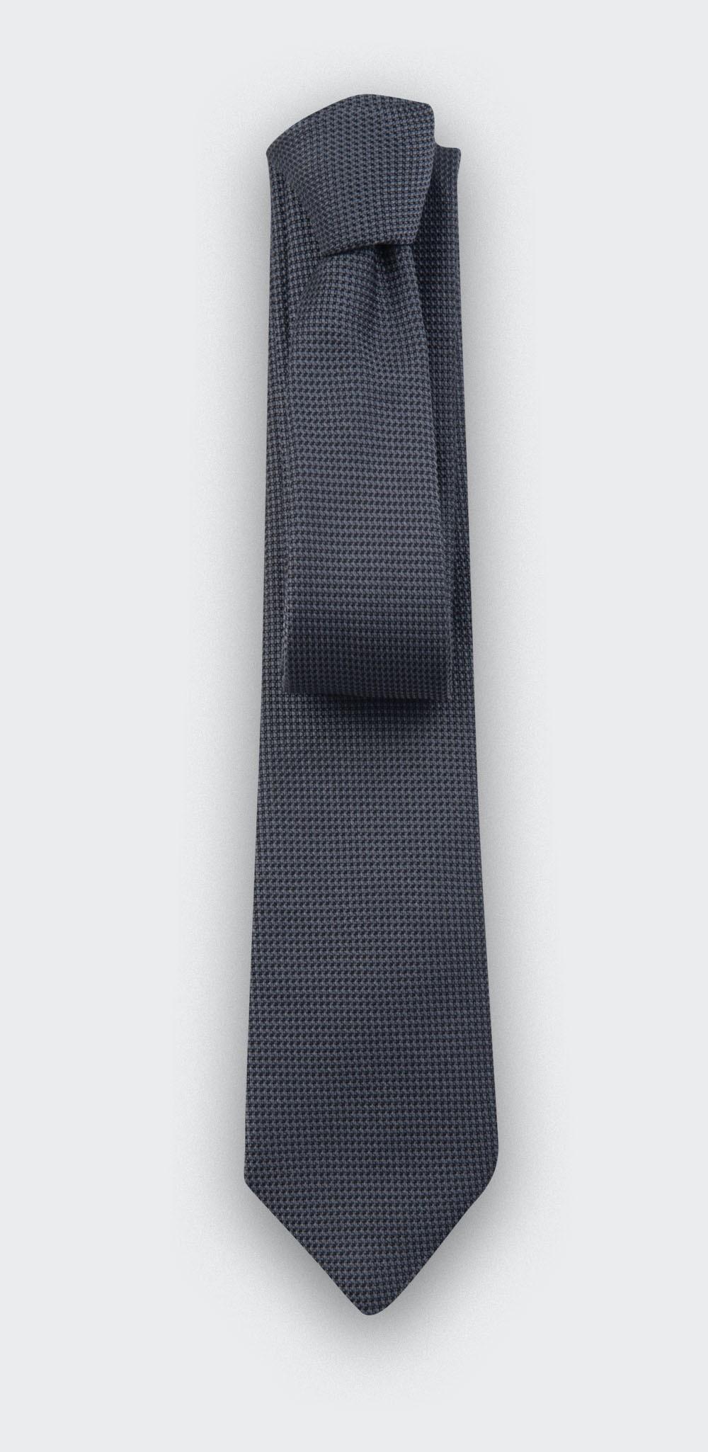 grey woven silk tie - silk - cinabre Paris