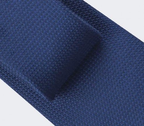 navy blue woven silk tie - silk - cinabre paris
