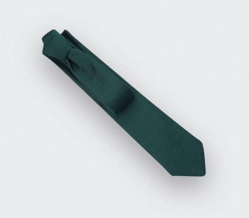 green woven silk tie - silk - cinabre Paris