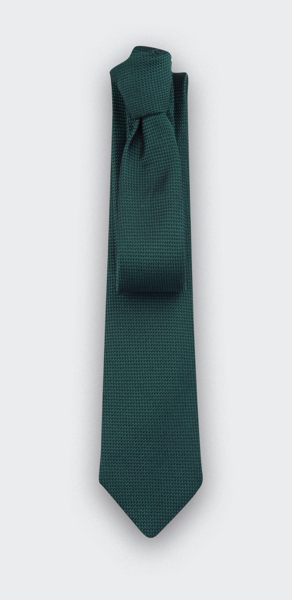 cravate soie tissée verte - soie - cinabre paris