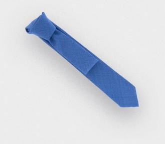 cravate maille bleu ciel - laine - cinabre paris