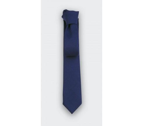 cravate maille bleu - laine - cinabre paris