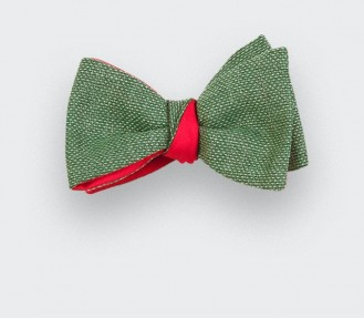 green maille bow tie - wool - cinabre paris
