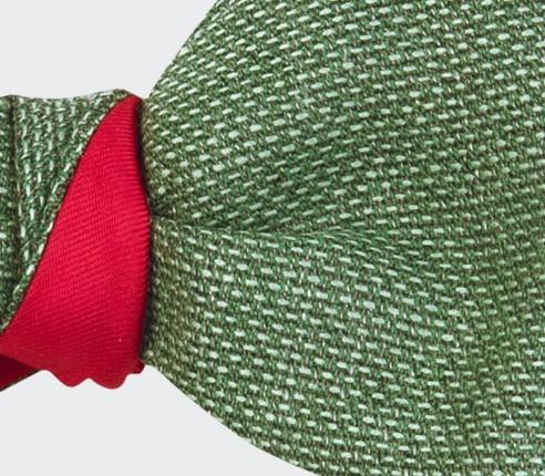 noeud papillon maille vert - laine - cinabre paris