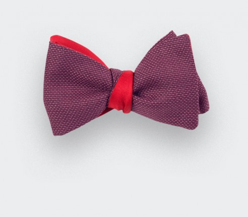 Fuchsia Maille Bow Tie - wool - Cinabre Paris