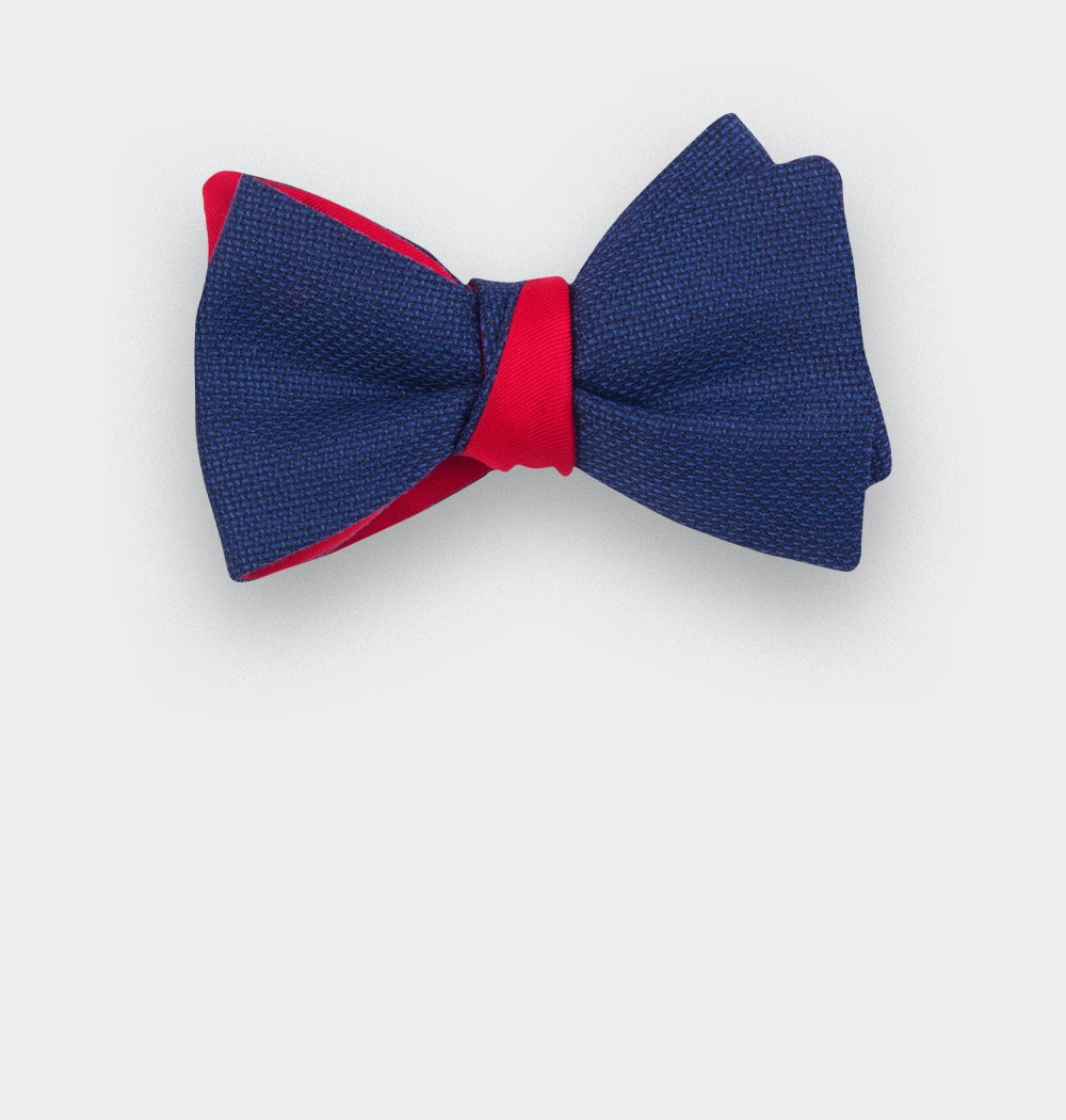 blue maille bow tie - wool - cinabre paris