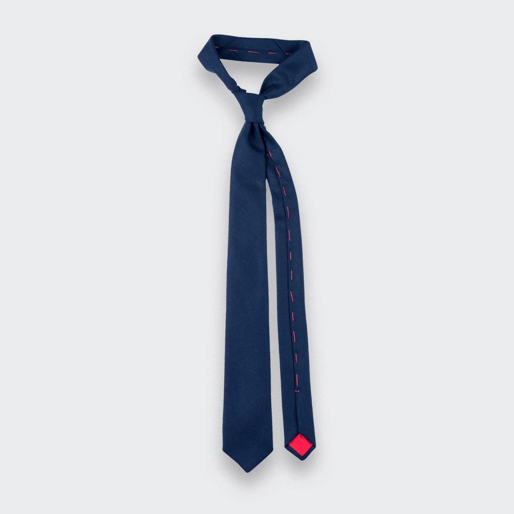 navy maille tie - wool - cinabre paris