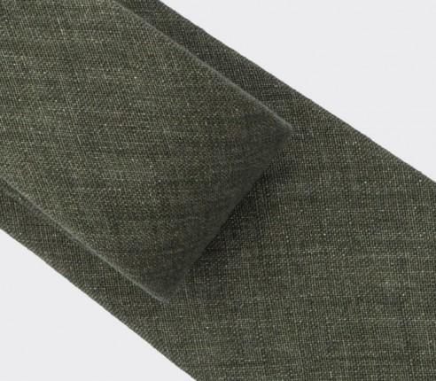 cravate manosque vert - lin - cinabre paris