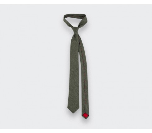 green manosque tie - linen - cinabre paris