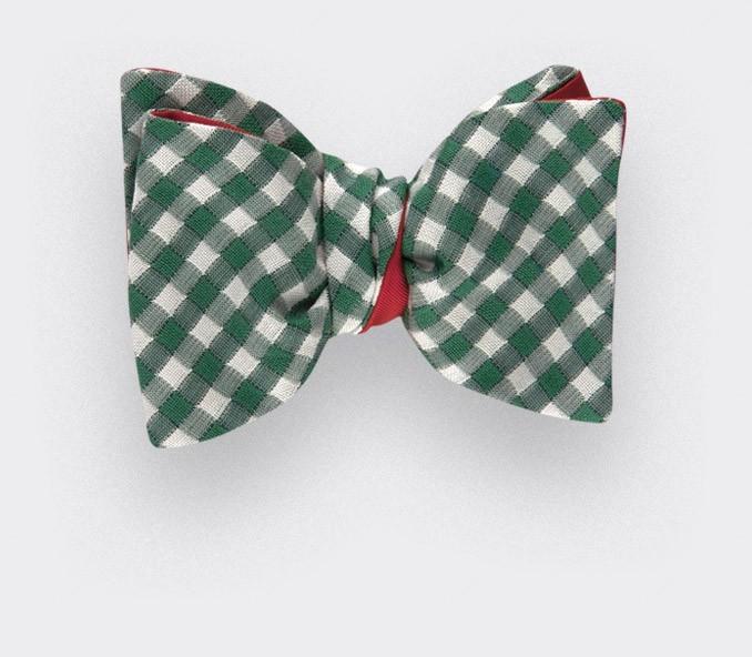 Green Vichy Bow Tie