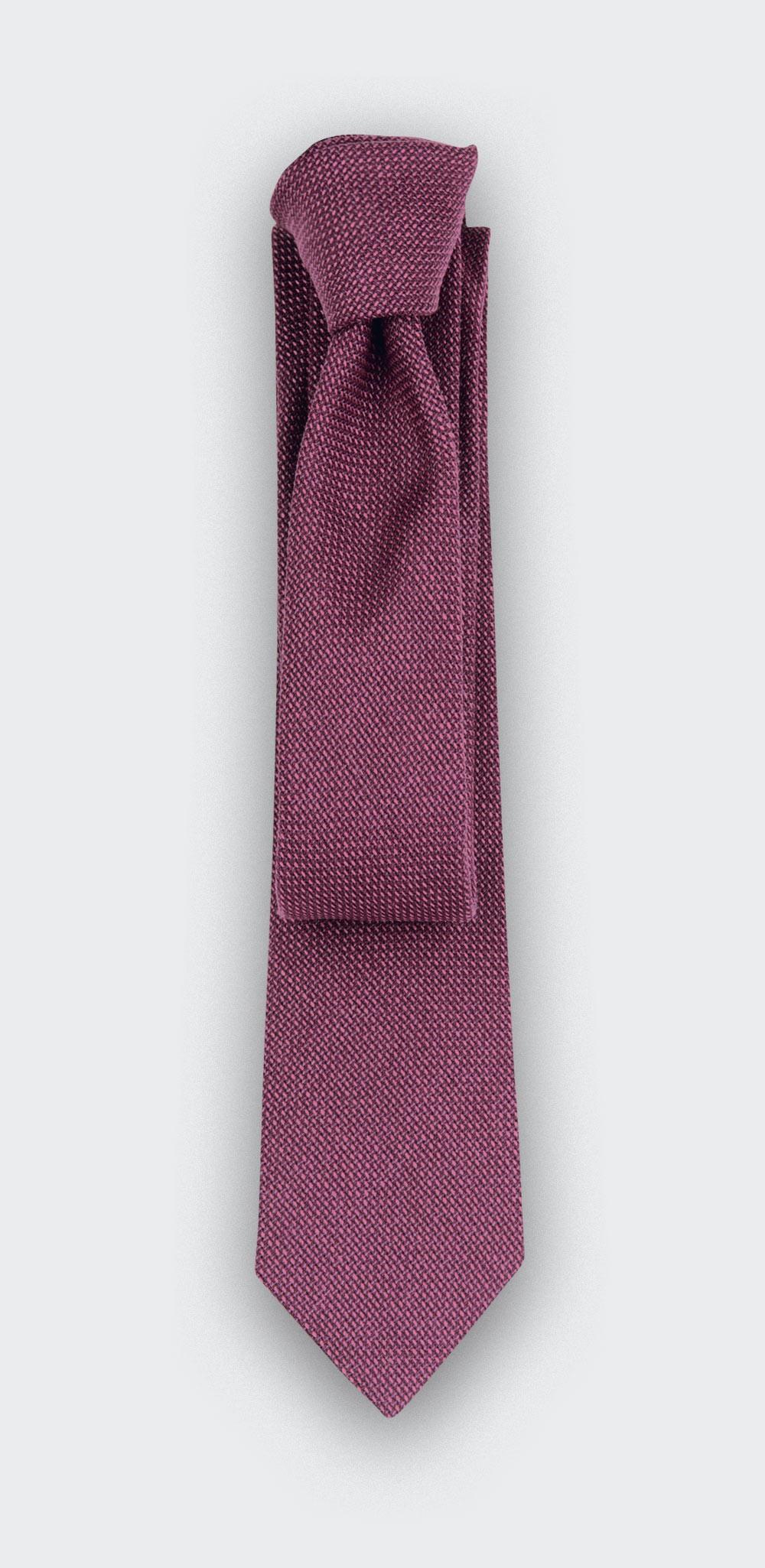 fuchsia maille tie - wool - cinabre paris