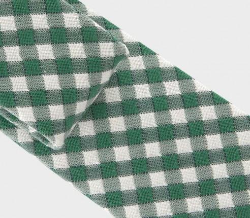 cravate vichy vert - coton et soie - cinabre paris
